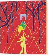 Rue De Pluie Wood Print by Anita Dale Livaditis