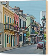 Rue Domaine New Orleans Wood Print