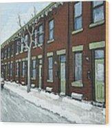 Rue Grand Trunk Pointe St. Charles Wood Print