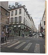 Rue Jacob Paris Wood Print
