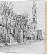 Rue St-denis Wood Print