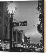 Rue St. Pierre Wood Print