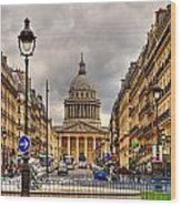 Rue Sufflot In Paris Wood Print