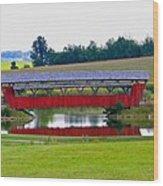 Ruffner Covered Bridge Wood Print