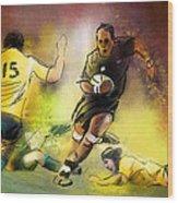 Rugby 01 Wood Print