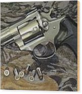 Ruger Security Six Still Life Wood Print