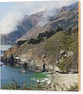 Rugged California Seashore Wood Print