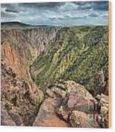 Rugged Edge Of The Canyon Wood Print
