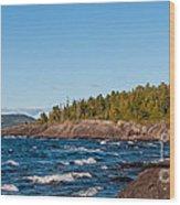 Rugged Lake Superior Coastline Wood Print