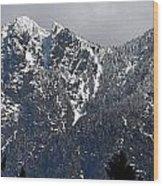 Rugged Mountain Wood Print