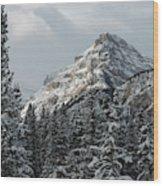 Rugged Mountain Peak With Snow Wood Print