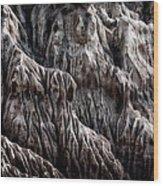 Rugged Shoreline Wood Print