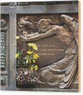 Ruggeri Roncoroni Guzzi Grave Marker Monumental Cemetery Milan Wood Print