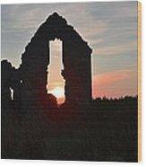 Ruin Of A Hunting Lodge Near Lough Easkey In County Sligo Ireland Wood Print