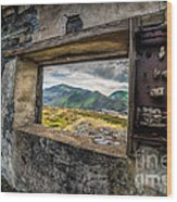 Ruin With A View  Wood Print