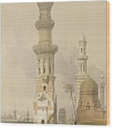 Ruined Mosques In The Desert Wood Print