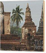 Ruins At Sukhotai Wood Print