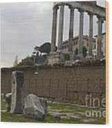 Ruins In The Roman Forum Rome Italy Wood Print