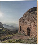Ruins Of A Stone Building  Corinth Wood Print
