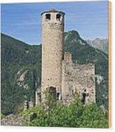 ruins of Chatelard castle Wood Print
