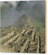 Ruins Of Machu Picchu Peru Wood Print