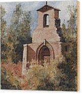 Ruins Of Morley Church Wood Print by Sam Sidders