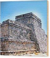 Ruins Of Tulum Mexico Wood Print