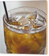 Rum And Coke Wood Print