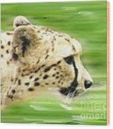 Run Cheetah Run Wood Print