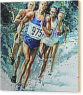 Run For Gold Wood Print