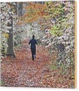 Run Through The Woods Wood Print