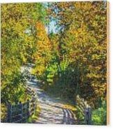 Runner's Path In Autumn Wood Print