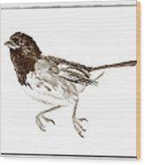 Running Bird Wood Print by Susan Leggett
