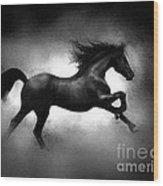Running Horse Wood Print by Robert Foster