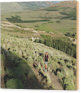 Running In Esquel, Chubut, Argentina Wood Print