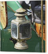 Oil Lamp Running Light Wood Print