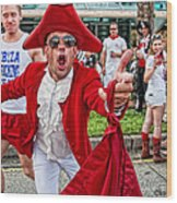 Running Of The Bulls New Orleans Matador Wood Print