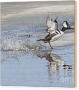 Running On Water Wood Print