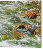 Running River Wood Print