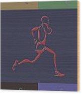 Running Runner Wood Print