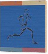 Running Runner2 Wood Print