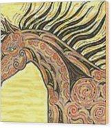 Running Wild Horse Wood Print