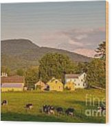 Rupert Vermont Dairy Farm Wood Print