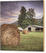 Rural American Farm Wood Print
