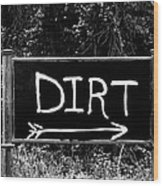 Rural Area Sign Wood Print