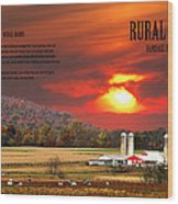 Rural Barns  My Book Cover Wood Print