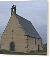 Rural Church In Brittany Wood Print
