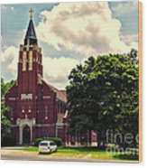 Rural Church Usa Wood Print