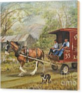 Rural Deliveries Wood Print