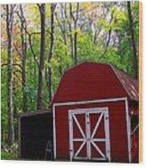 Rural Fall Scene Wood Print